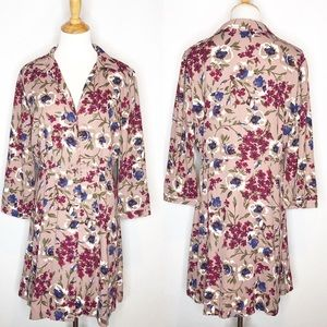 NWT Lulu's Long Sleeve Pink Floral Dress xl